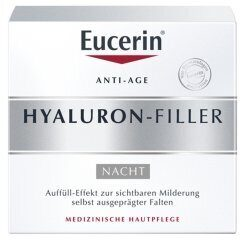 Eucerin Hyaluron-Filler Anti Age  Night Cream ночной крем от морщин, 50 мл