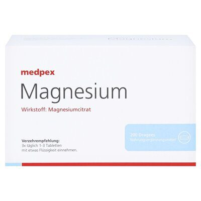 Medpex Magnesium Dragees 40mg, 200 капсул